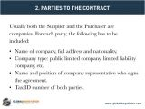 International Supply Contract Template International Supply Contract Contract Template and Sample