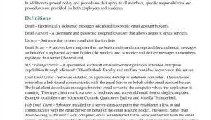 Internet and Email Policy Template 9 It Policy Templates Free Pdf Doc format Download