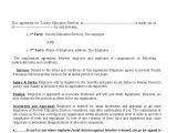 Internship Employment Contract Template Example Employment Contract Invitation Templates