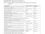 Internship Schedule Template Environmental Health Workforce Development Post Secondary