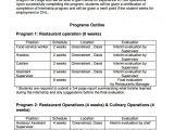 Internship Schedule Template Program Outline Template 7 Free Free Word Pdf format