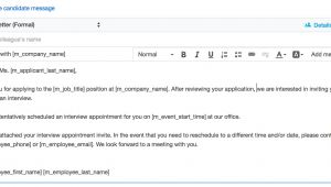 Interview Schedule Email Template Schedule An Interview Smartrecruiters