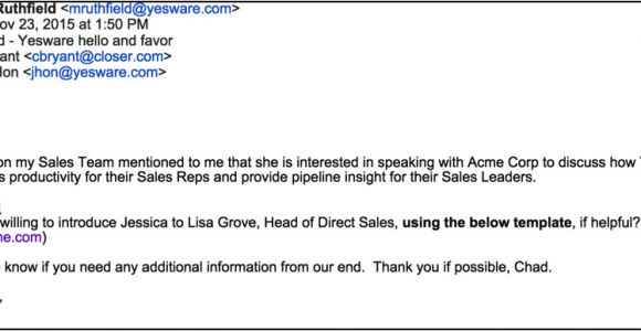 Introductory Email Template How to Write An Introduction Email that Wins You An In