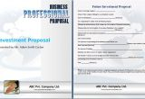 Investment Portfolio Proposal Template Editable Printable Proposal Templates