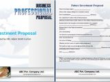 Investment Proposal Template Word Investment Proposal Template Proposal Templates