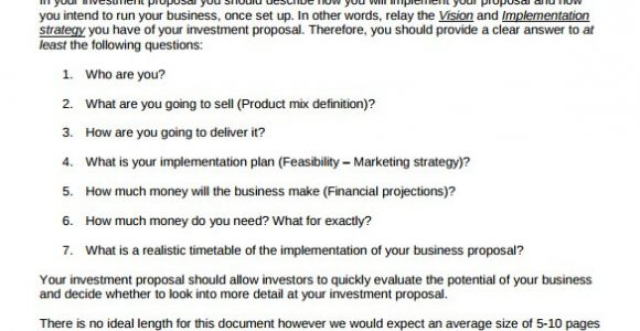 Investor Proposal Template 18 Investment Proposal Samples Sample Templates