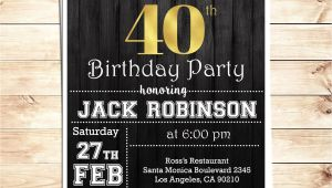 Invitation Card About Birthday Party Blank Invitation Card Template Einladung 40 Geburtstag