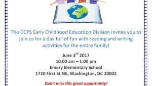 Invitation Card Annual Function School Dc Public Schools Stayhomedc On Twitter Dcps Early