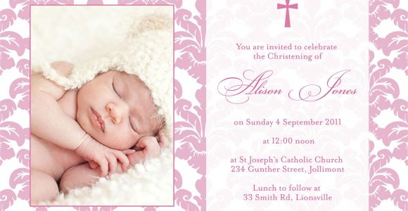 Invitation Card Christening Baby Girl Baptism Invitation Sample Wording with Images Baby