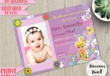 Invitation Card Christening Baby Girl Tinkerbell Birthday Invitation Editable Fairy