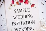 Invitation Card Content for Wedding Wedding Wording Samples and Ideas for Indian Wedding