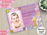 Invitation Card for Christening Background Tinkerbell Birthday Invitation Editable Fairy