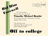Invitation Card for Farewell Party for Seniors Going Away Party Invitations New Selections Summer 2020