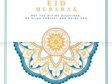 Invitation Card for Ramadan Eid Download Premium Vector Of White and Blue Eid Mubarak