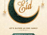 Invitation Card for Ramadan Eid Flat Style Jasne Eid Party Invitation Card Design with