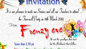 Invitation Card for Teachers On Farewell Party Beautiful Surprise Party Invitation Template Accordingly