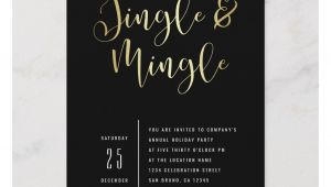Invitation Card for Xmas Party Elegant Corporate Jingle Mingle Party Invitation Zazzle