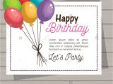 Invitation Card for Your Birthday Party Happy Birthday Invitation Card Stock Vector Art