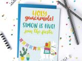 Invitation Card for Your Birthday Party Llama Birthday Party Invitation Printable Invitations
