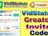 Invitation Card Kaise Banate Hain Vidstatus Invitation Code Vidstatus Become Creator Vidstatus Se Paise Kaise Kamaye