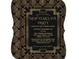 Invitation Card New Year Party Charm Roaring 20 S Great Gatsby New Year Party Invitation