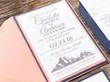 Invitation Card Rsvp Full form Amazon Com Personalized Mountain Wedding Invitation Card