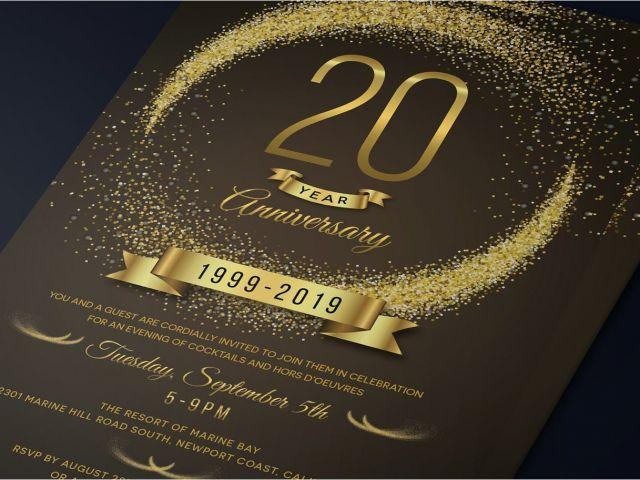 invitation card size in cm anniversary invitation template