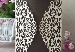 Invitation Card Size In Cm Cutout Exquisite Flower Wedding Invitations Cards Envelope