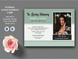 Invitation Card Using Ms Word Funeral Announcement and Invitation Card Template Ms Word