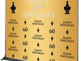 Invitation Card Yellow 60th Birthday Mehofoto 60th Birthday Background Champagne Glass Repeat Backdrop Golden Background Black 60th Birthday Party Booth Banner Decoration Men Women