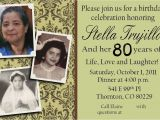Invitation Card Yellow 60th Birthday My Grandmother S 80th Birthday Party Invite 80th Birthday