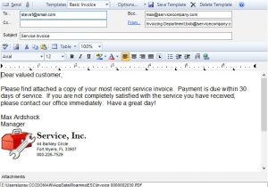 Invoice attached Email Template Emailing Invoices and Quotes Esc
