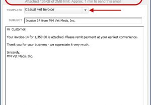 Invoice attached Email Template Track Emails Sent to Customers In Quickbooks 2014