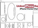 iPhone 4 Screw Template iPhone 4 Screen Repair Diagram iPhone Free Engine Image