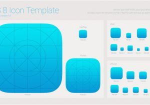 iPhone App Logo Template Ios 8 Icon iPhone Ipad iTunes Template Welovesolo