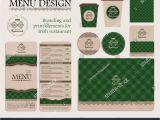 Irish Menu Templates Branding Print Elements Irish Restaurant Cafe Stock Vector