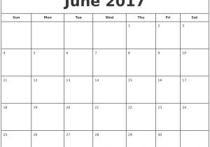 Is there A Calendar Template In Word June 2017 Calendar Word Calendar Printable Free