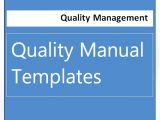 Iso 9000 Quality Manual Template iso Templates