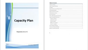 It Capacity Planning Template Capacity Plan Template Microsoft Word Templates