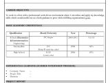 It Fresher Resume format Download In Ms Word Resume format for Freshers Download