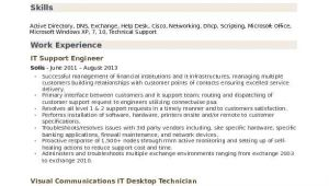 It Support Engineer Resume It Support Engineer Resume Samples Qwikresume