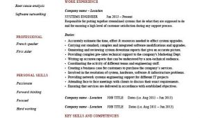 It System Engineer Resume Systems Engineer Resume Example Sample It Security