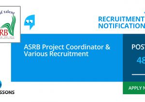 Itbp Admit Card Name Wise asrb Project Coordinator and Various Recruitment