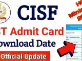 Itbp Admit Card Name Wise Cisf Hc Ministerial Admit Card Download 2019 Cisf Hc
