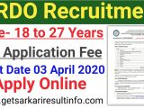 Itbp Admit Card Name Wise Drdo Apprentice Online Application 2020 Drdo Recruitment 2020 Getsarkariresultinfo