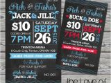 Jack and Jill Ticket Templates Printed Raffle Buck and Doe Tickets Jack and Jill Tickets