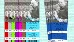 Jack and Jill Tickets Free Templates Jack and Jill Stagette Buck and Doe Party Invitation Ticket