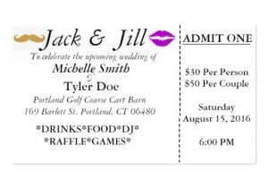 Jack and Jill Tickets Free Templates Jack and Jill Tickets Business Card Zazzle