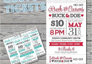 Jack and Jill Tickets Free Templates Stag and Doe Tickets Template Invitation Template