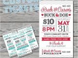 Jack and Jill Tickets Templates Stag and Doe Tickets Template Invitation Template